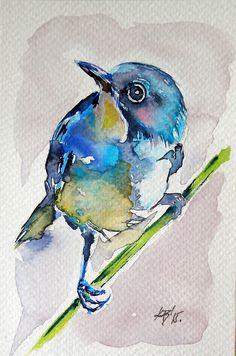 Bird Watercolour by?????? on Redbubble♥♥