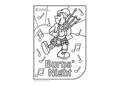 Enjoy colouring in these activities! With this printable activity, you can colour in your very own Scotsman for Burns' Night!