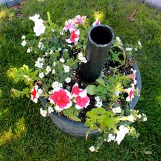 Learn to make a DIY Umbrella Stand and Planter that will stand up to strong winds.