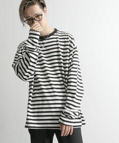 WEGO MEN'S(ウィゴーメンズ)のWEGO/エクストラスリーブロングTシャツ(Tシャツ/カットソー) ホワイト系その他