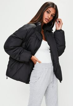Missguided - Black Ultimate Oversized Padded Jacket