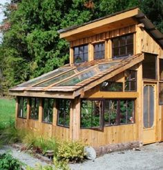 Recycled material greenhouse