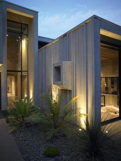 karaka bay house modern outdoor lighting design