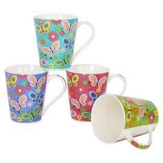 11oz V-shaped new bone china mugs