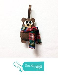 Felt Christmas Ornament - Willis the Baby Bear - Made to Order from Red Marionette https://www.amazon.com/dp/B015EP43Y4/ref=hnd_sw_r_pi_dp_59teybQYT76ZD #handmadeatamazon
