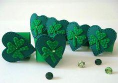 St. Patrick's Day Napkin Rings Green Shamrocks  by efiwarsh