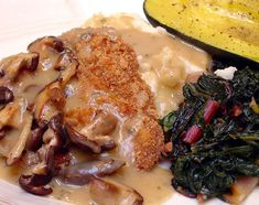 J�gerschnitzel Recipe- several recipes for pork schnitzel are included as well as the German recipes for brown gravy with mushrooms- all just a little different - with personal choices- comments have tons of added info and suggestions