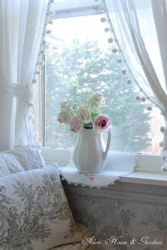 Romantic+Vintage+Bedroom+Curtains | Beautiful Bedroom Curtains! | Romantic Vintage Cottage