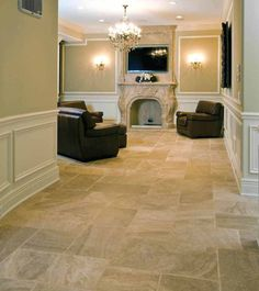 Natural Stone Flooring | Carmel Travertine