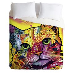 Dean Russo Tilt Cat Duvet Cover | DENY Designs Home Accessories
