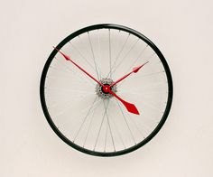 Clock made from a Recycled Bike Wheel by Allan Young