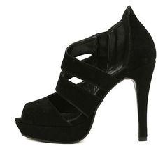Women's Sandals With Stilettlo Heel and Zipper Design