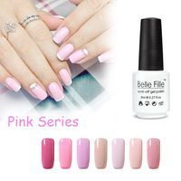 UV Nail Gel Polish BELLE FILLE Angel Pink Gel Nail Polish for French Manicure Soak Off Gel Lacquer vernis semi permanent