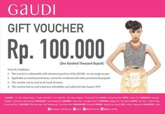 Gaudi: Gift Voucher Rp.100.000,- @GaudiClothing