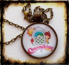 CHARMKINS . Glass Pendant Necklace . MINIATURES . by girlgamegeek, $11.11
