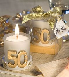 Find details of giveaways golden wedding anniversary with unique gifts, souvenirs and giveaways including Design Golden Bottle Opener, Golden Anniversary Candle Favors, Gold Star Design Anniversary Celebration Candle . 50th Anniversary Decorations, Anniversary Party Decorations, Anniversary Parties, Diy 50th Wedding Anniversary Invitations, Anniversary Ideas, Golden Wedding Anniversary, Gold Candles, White Candles, Candle Favors