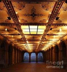 Bethesda Terrace Lower Passage, New York Central Park, NY, US