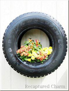 Tyre Planter for Discovery Garden.