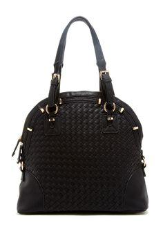 Woven Zip Handbag