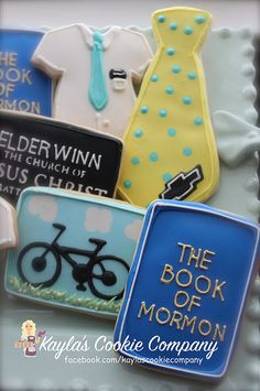 Mormon Missionary cookie Set Missionary cookies Temple cookies LDS cookies Book of Mormon cookies