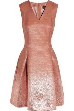 Ombre-effect metallic dress by Fendi. #metallicbridesmaid #weddingstyle