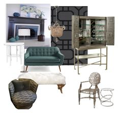 """""""Untitled #15"""" by ellie-mroz on Polyvore featuring interior, interiors, interior design, home, home decor, interior decorating, Vanguard and Grandin Road"""