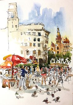 Placa Catalunya, Barcelona   Flickr - Photo Sharing!