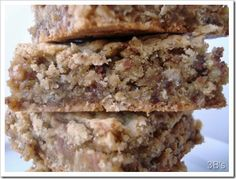 Oatmeal Toffee Bars - serve warm with vanilla ice cream