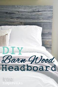 DIY Barn Wood Headboard | www.beyondtheinspiration.com