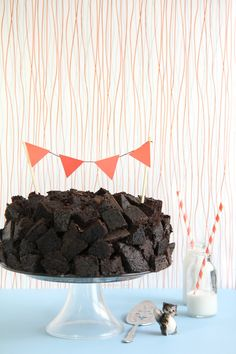 Choc quake cake
