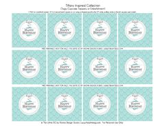 Happy Birthday - {Free Printable} Tiffany & Co. Inspired Happy Birthday Cupcake Toppers, Tags, or Embellishment ~ Kroma Design Studio Parties & Events