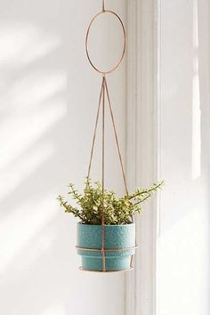 Metal Circle Hanging Planter