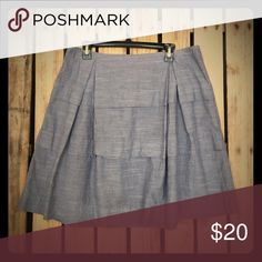 Denim Ruffled High Waisted Skirt Can be paired with a crop top, tank, or graphic Tee. Skirts