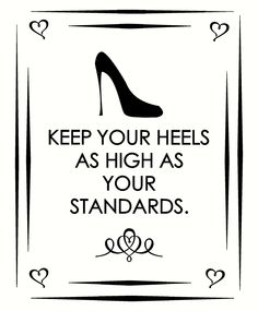 How high are your heels...I mean standards? Order this wall vinyl sticker for your shoe collection today!