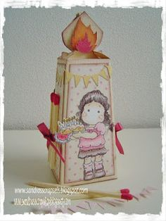 Candle box template Sandra's Scrapshop