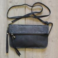 New NY Bag, Snake Black