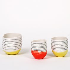 Love the mix of the colours and lines. Glaze and ceramics http://www.latelierdesgarcons.com/