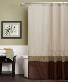 Take A Look At This Green Amp Brown Mia Shower Curtain By Triangle Home Fashions