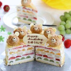 2019*05*12 . . #ミルクレープ . . 今日は #母の日 ですね🌹 . . 私はまだまだ感謝を伝える側です🎁 お母さんいつもありがとう♡ . . 写真は、先月かな? お母さまのお誕生日ケーキ用に作らせてもらったミルクレープ🎂 . .… Buttercream Cake, Fondant Cakes, Cute Desserts, Dessert Recipes, Cute Food, Yummy Food, Little Cakes, Food Decoration, Cake Plates