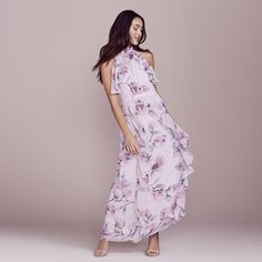 47a9a2e41a LC Lauren Conrad Dress Up Shop Collection Floral Ruffle Halter Dress -  Women's