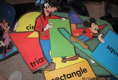 Disney Shapes for Classroom Bulletin Boards