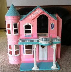 Barbie Dream House Victorian Style With Working Elevator  I HAD THIS WHEN I WAS LITTLE!!!