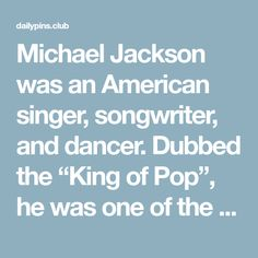 "Michael Jackson was an American singer, songwriter, and dancer. Dubbed the ""King of Pop"", he was one of the most popular entertainers in the world and was the best-selling music artist at the time of his death. Jackson's contributions to music, dance, and fashion along with his publicized personal life made him a global figure…  #inspirationalquotes #motivationalquotes #lifequotes #happinessquotes #workhard"