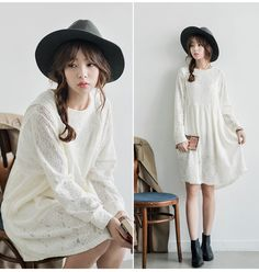 MisterTao: Leading Taobao Agent - Taobao Product - MoriGirl2015 spring loose long-sleeved dress long section of College Wind wild Korean lace dress