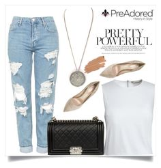 """Pre Adored 21/III"" by amra-mak ❤ liked on Polyvore featuring Topshop, Canvas by Lands' End, Chanel, Gianvito Rossi, Jane Iredale and PreAdored"