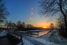 Winters landschap Leek