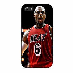 Lebron James Heat NBA Miami Heat Basketball iPhone 5/5s Case