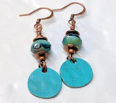 Hey, I found this really awesome Etsy listing at https://www.etsy.com/listing/554949979/turquoise-boho-bead-earrings-blue-patina