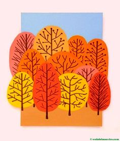 Ideas and Decor Painting For Kids, Art For Kids, Crafts For Kids, Autumn Crafts, Autumn Art, Arte Elemental, Kindergarten Art Projects, Fall Art Projects, Autumn Activities For Kids