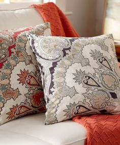 Style Forecast: Rich, deep tones and paisley are what will be trending this fall. Get a jumpstart by adding a touch of paisley in the form of pillows.